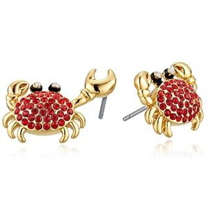 KATE SPADE Shore Thing hanging crab stud earrings